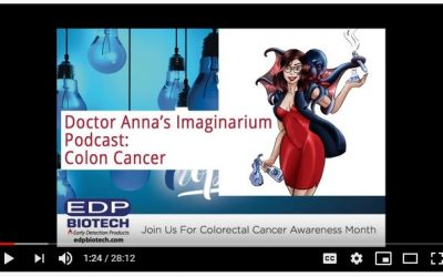 Dr. Anna podcast on Colorectal Cancer featuring EDP Biotech