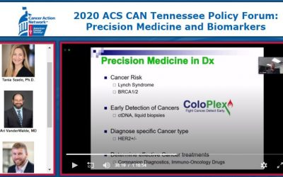 ACS Caner Action Network Tennessee Policy Forum:  Precision Medicine and Biomarkers